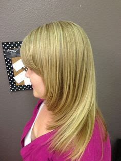 red underlay on hair blonde highlights with dark underlay and haircut my