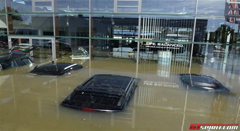 jaguar dealership floods in bayern destroy jaguar landrover dealership in