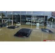 Floods In Bayern Destroy Jaguar Landrover Dealership