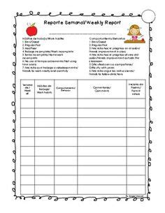Bilingual Report Card Template by Reference Report Card Comments Pdf