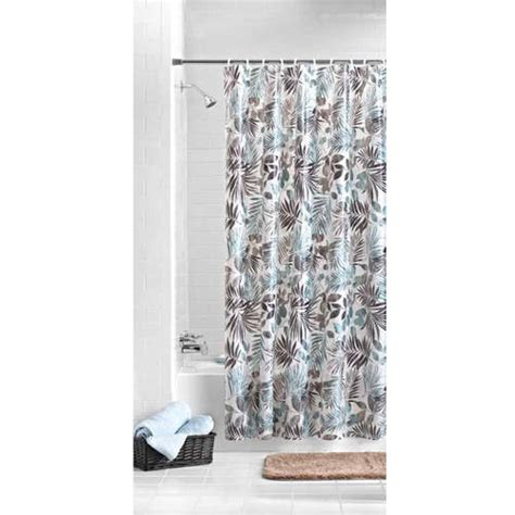 mainstay curtains mainstays aqua palm peva shower curtain walmart com