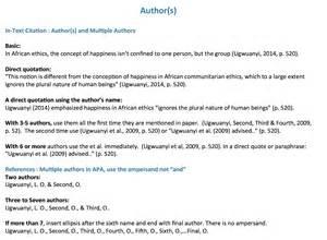 authors writing citing apa libguides at