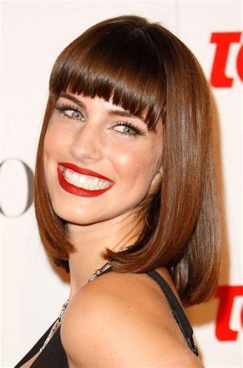 long lob haircut with bangs hnczcyw com lob sexy long bob hairstyle with blunt bangs from