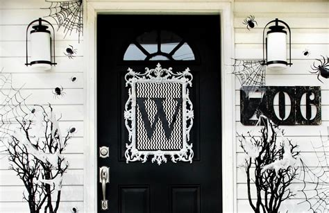 Where To Buy Inexpensive Home Decor four ideas for inexpensive halloween door decorations
