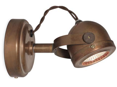 wandspot mit kabel kleiner nostalgie wandstrahler deckenspot aus kupfer