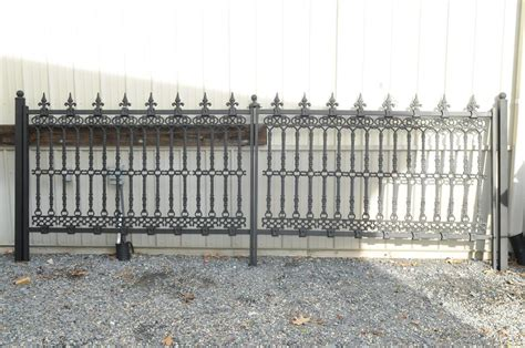 Iron Fence Sections iron fence panels fleur de lis style with