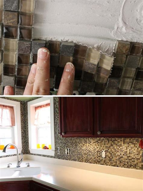kitchen backsplash diy 15 diy ideas how to make a fancy low cost kitchen backsplash