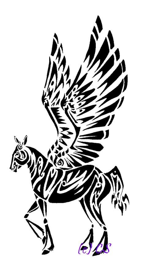 pegasus tattoo design by crystalserenity on deviantart