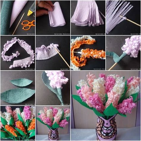 Beautiful Paper Flowers - beautiful paper hyacinth flowers tutorial