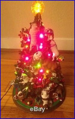 bulldog christmas tree  danbury mint vintage porcelain