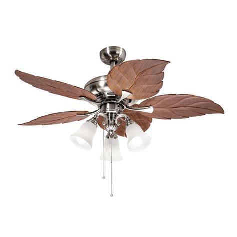 Leaf Ceiling Fan With Light Tropical Leaf Ceiling Fan The Best Fan To Install Warisan Lighting