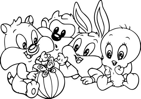 coloring pages of baby bugs baby bugs bunny looney tunes cartoon coloring page