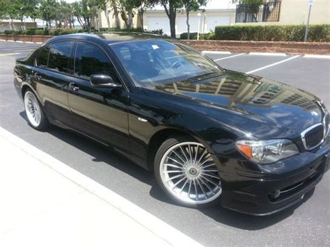 find used 2008 bmw alpina b7 low miles blk nav xenons adaptive cruise no reserve in