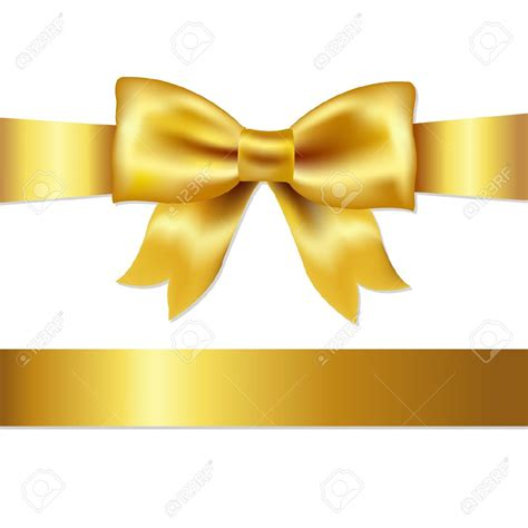 gold bow gold bow ribbon clipart