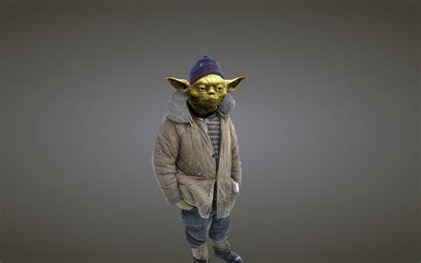 cool yoda wallpaper yoda in exile full hd wallpaper and background image