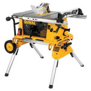 dewalt 10 in 15 jobsite table saw with rolling stand