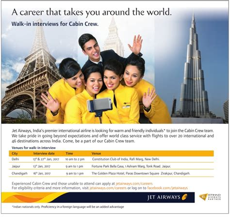 cabin crew recruitment jet airways cabin crew recruitment 2018 walk in