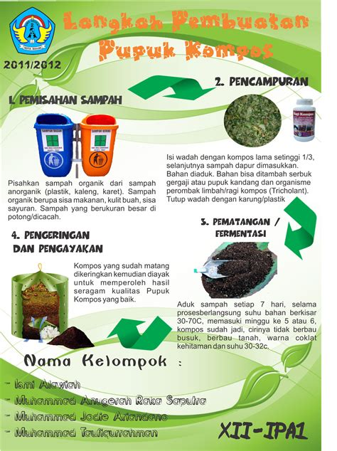 Pupuk Organik Kompos Dari Sah welcome to chengtaufiq poster langkah langkah