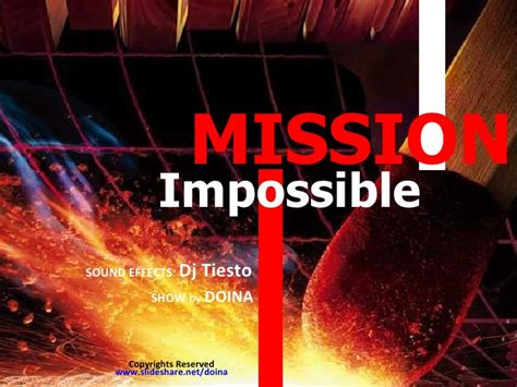 Mission Impossible Mission Impossible After Effects Template