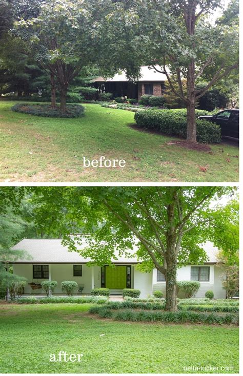 White Painted Brick Exterior Before And After Bella