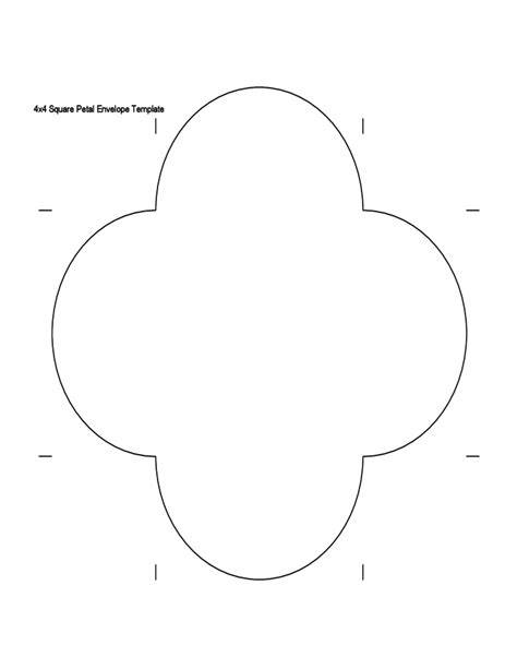 Square Petal Envelope Template Free Download Petal Envelope Template