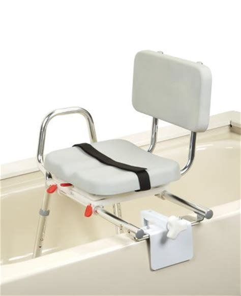 swivel seat sliding bath transfer bench snap n save sliding tub mount transfer bench with swivel seat