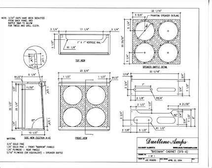 Fender Amp Cabinet Plans