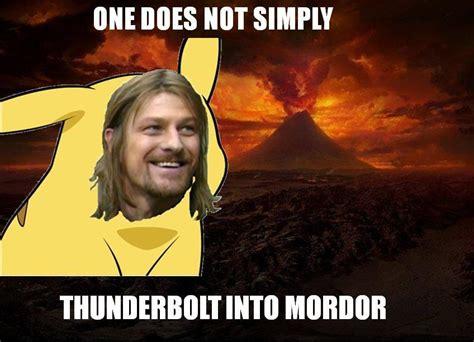 Mordor Meme - image 28979 one does not simply walk into mordor