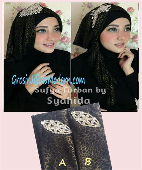 Gamis Ananda Hitam Marun turban pesta sufya exclusive by syahida hitam grosir jilbab modern jilbab cantik jilbab syari