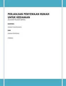 contoh perjanjian sewa rumah kediaman2014