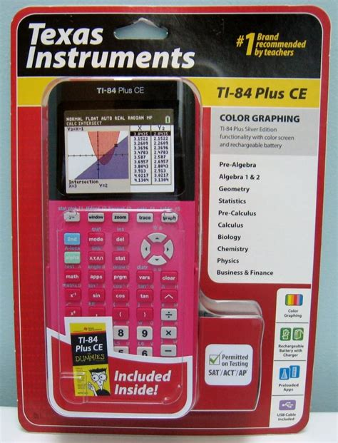 ti 84 color instruments ti 84 plus ce pink color screen graphing