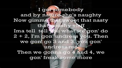 Hotel Room Service Lyrics by Pitbull Hotel Room Service Complete Lyrics Hd