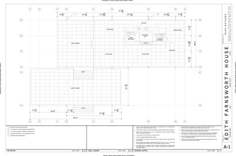 farnsworth house floor plan dimensions autocad by ryan mathews at coroflot com