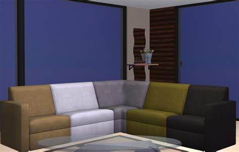 sims 3 couch mod the sims apartment life plumper thumper sectional