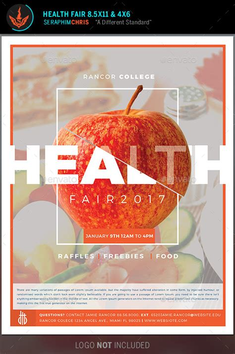 Health Fair Flyer Template By Seraphimchris Graphicriver Health And Wellness Flyer Template
