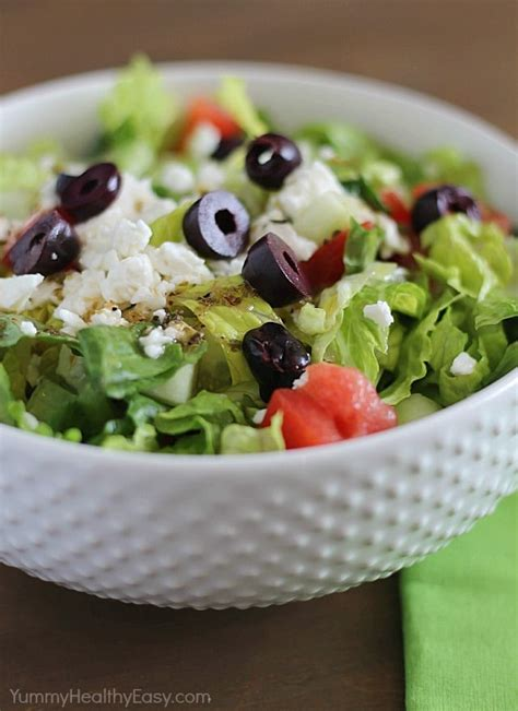 easy salad easy greek salad with homemade dressing yummy healthy easy