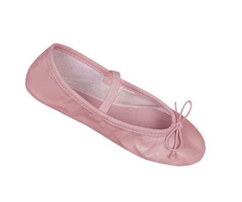 pink leather child ballet slippers shoes