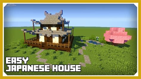 create a house minecraft how to build a japanese house tutorial easy survival minecraft house
