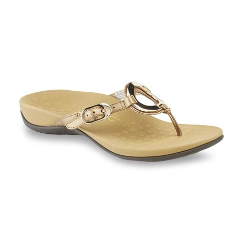 sears sandals womens vionic with orthaheel technology s bronze