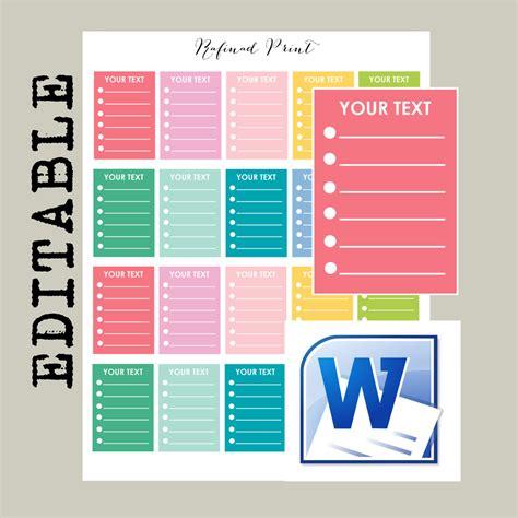 printable planner sticker template erin condren stickers template