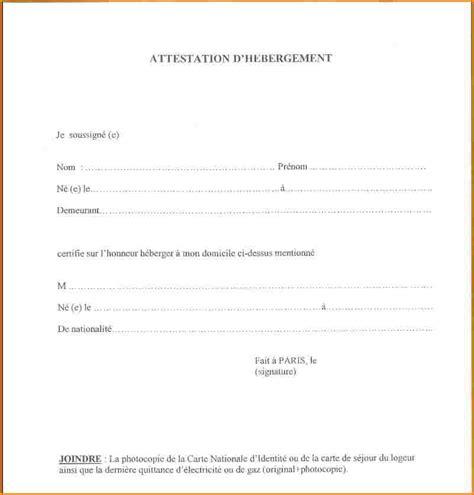 Lettre De Demande De Visa Permanent 3 Attestation D H 233 Bergement 224 Titre Gratuit Curriculum Vitae Etudiant