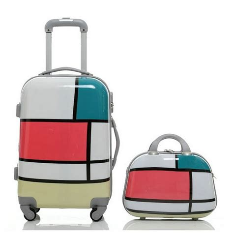 bags and suitcase pattern design software women travel suitcase girls geometric patterns luggage