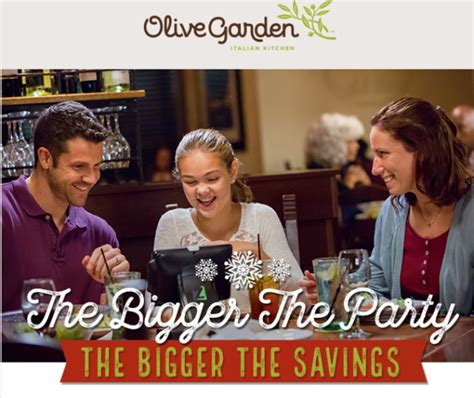 Olive Garden Ft Worth by Olive Garden Save Up To 20 Your Meal Through 12 22