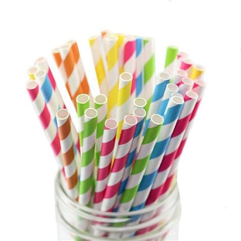 How To Make Paper Straws - striped paper straws two bees