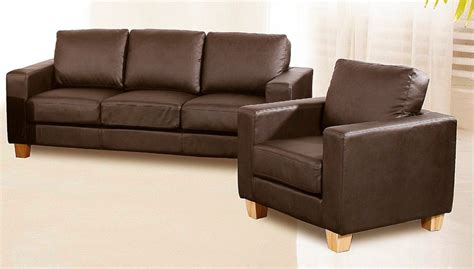 chesterfield 3 1 seater sofa faux leather available in brown