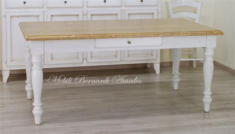 tavolo bianco anticato tavoli country da cucina in legno massello tavoli