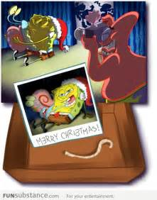 spongebob s embarrassing christmas party photo