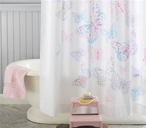 Butterfly Shower Curtains Butterfly Shower Curtain Shower Curtains San Francisco By Pottery Barn