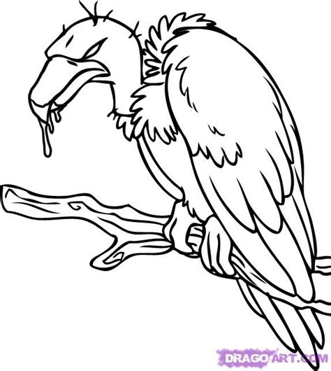 simple vulture tattoo how to draw a cartoon vulture step by step cartoon