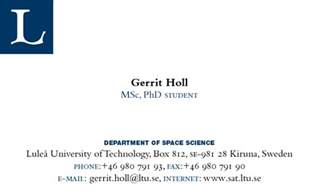 conference business cards for graduate students